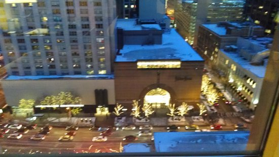 The Peninsula Chicago: Neiman Marcus across the street