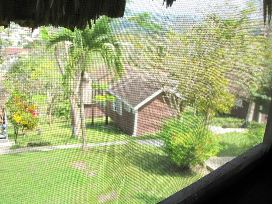 Cahal Pech Village Resort: looking from our cabana to my sister's