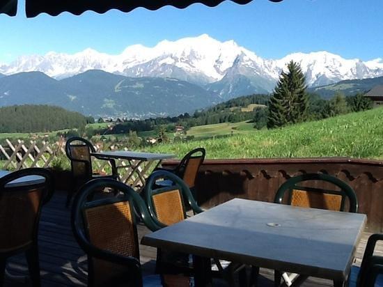 chez Alcide: Invitation au balcon du Mont blanc