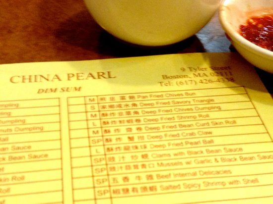 China Pearl Restaurant : A plethora of choices