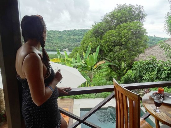Twin Island Villas : Gazing out from our balcony, life is tuff!