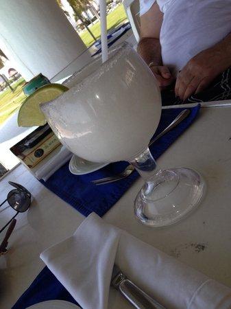 Camino Real Zaashila: Malibu Margaritas with sugar instead of salt rim