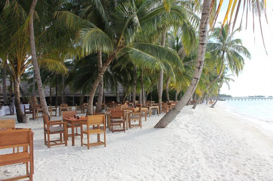 Gili Lankanfushi Maldives : ビーチサイドのレストラン(朝食)