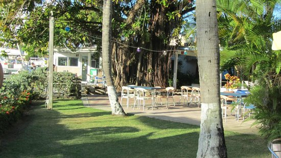 Chez daniel: Outside sitting area at Tapas Bar
