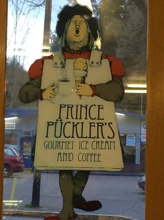 Prince Pucklers: Art in the window