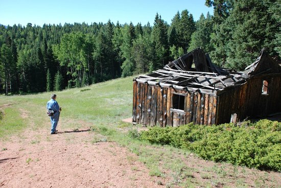 Mueller State Park: One of several old cabins used by ranchers