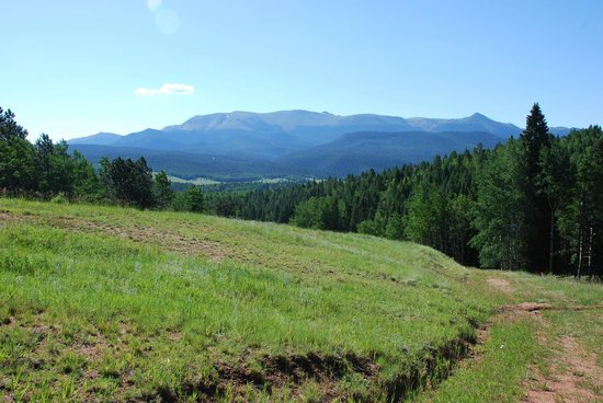 Mueller State Park: Looking at the west side of Pikes Peak