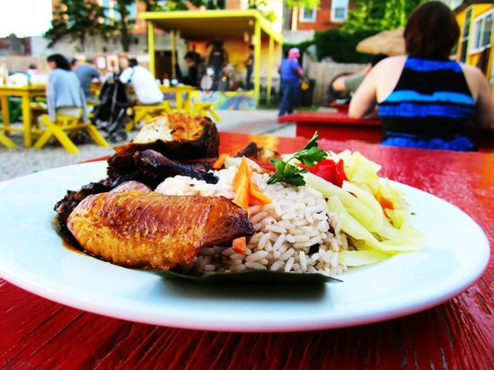 Jamaican Jerk Hut: Rice & Peas