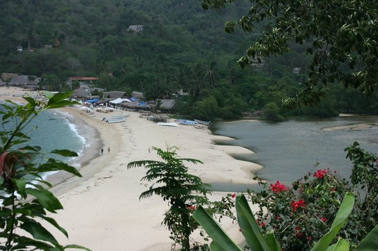 Yelapa Waterfalls: Yelapa Beach from waterfall trail