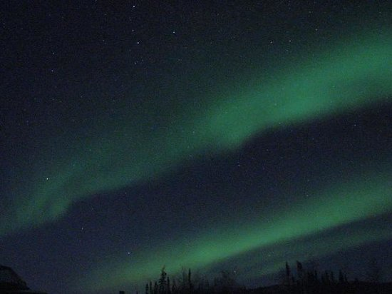 1st Alaska Tours: Aurora at the Yukon River