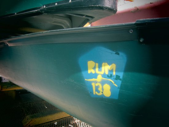 Rum 138: One of our two canoe's we took.
