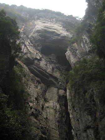 Wulong Tiankeng Three Bridges: 3 Bridge - Monkey - Wulong China