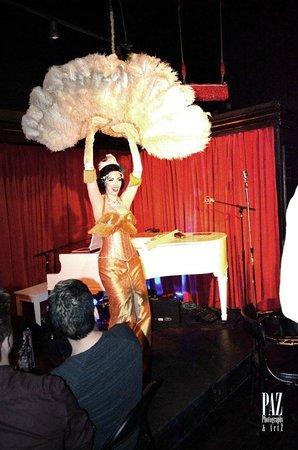 The Cabaret South Beach : Aurora Natrix burlesque performer