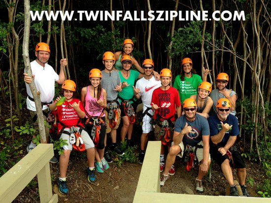 Jungle Zipline : Twin Falls Zipline