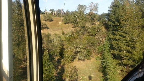 Sterling Vineyards: view from the cable car