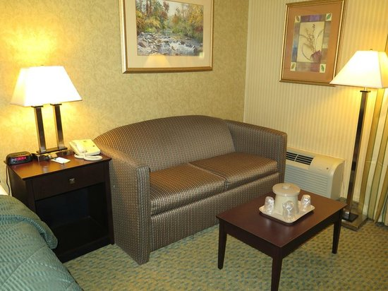 Quality Inn: View of couch