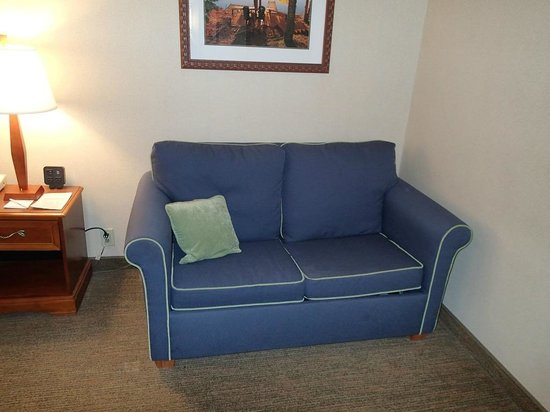 Holiday Inn Resort Lake George : View of sofa couch