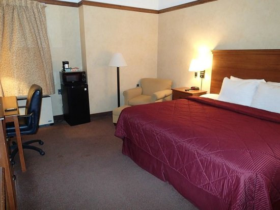 Comfort Inn Trolley Square: View of king size bed