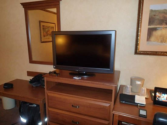 Comfort Inn Trolley Square: View of flat screen TV
