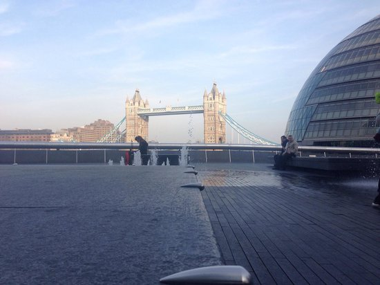 The Larder: Tower Bridge from More London.