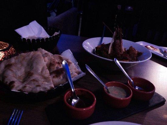 Yukti: Amazing dinner. King prawn was fantastic!