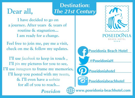 Poseidonia Beach Hotel: Follow us on Social Media