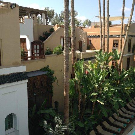 Les Jardins de la Medina: Zicht van op de bovenste verdieping