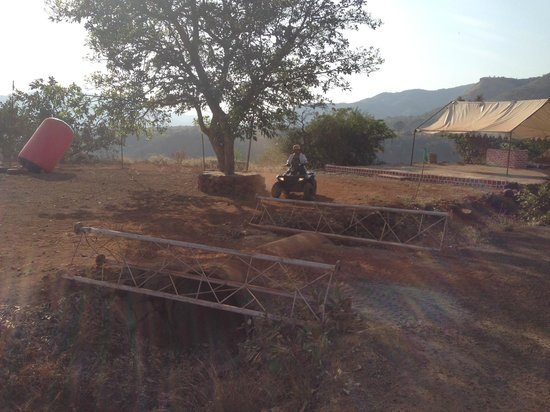 The Waterfront Shaw, Lavasa : The track for the ATV (buggy) ride!