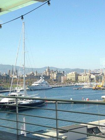 Restaurante Barceloneta: Vistas desde el comedor de la tercera planta del restaurante