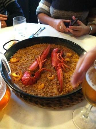 Restaurante El Coto de San Juan: arroz con bogavante
