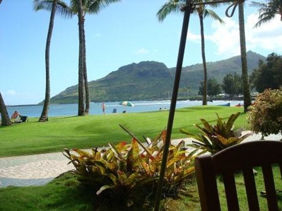 Duke's Kauai: View from my table at lunch - Duke's Canoe Club, Lihue, Kauai, Hawaii