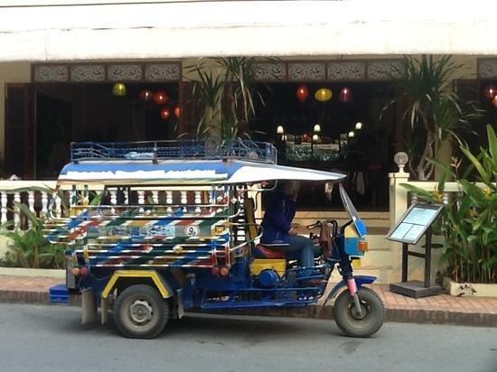 The Apsara: Tuk Tuk outside the hotel
