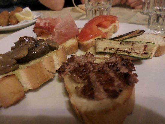Ristorante Pizzeria Boccaccio Life: Bruschette miste