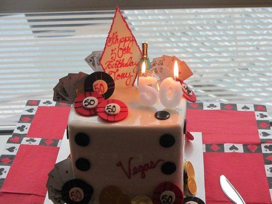 Freeds Bakery Vegas Dice 50th Birthday Cake