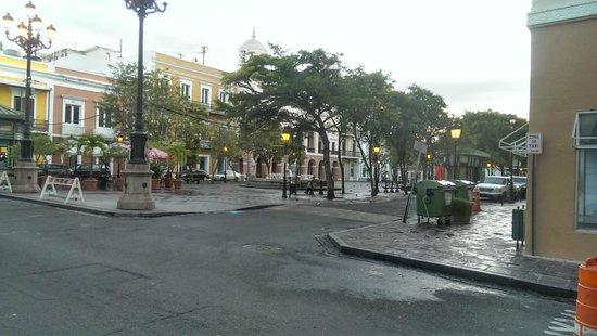Hotel Plaza De Armas Old San Juan : View of Town Square from front of Hotel Plaza De Armas