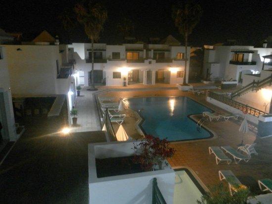 Apartamentos Club Guinate : night time from our balcony room 17