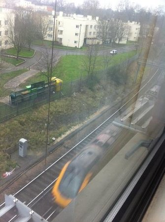 Premier Inn Southampton City Centre Hotel : train line outside - not that noisy