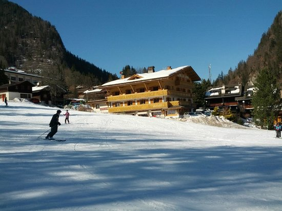 Hotel Les Sapins: Hotel located on the Riffroids ski slope
