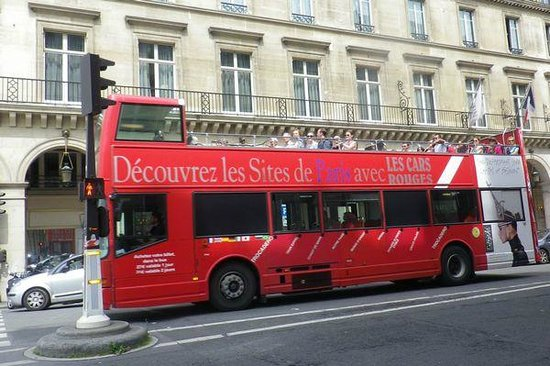cars rouge picture of big bus paris paris tripadvisor. Black Bedroom Furniture Sets. Home Design Ideas