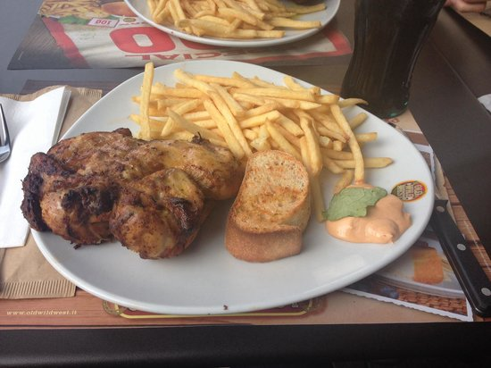 Old Wild West: Galetto (roasted chicken) with fries