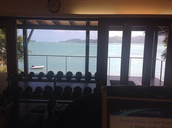 Qualia Resort: view from the gym