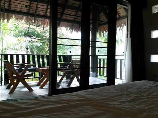 Haadson Resort : vue du lit