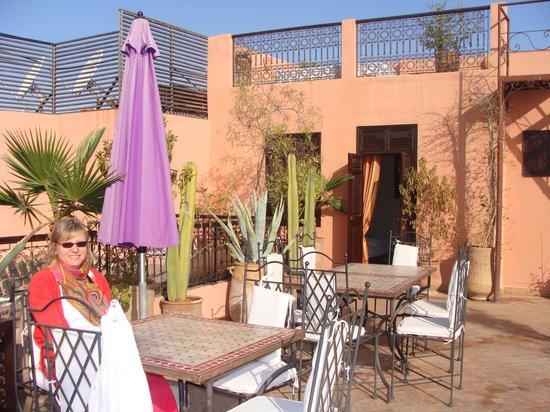 Riad Anya: Terrasse