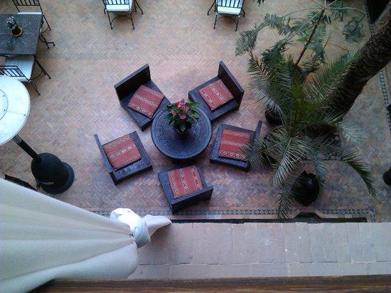 Riad Selouane: il patio visto dalla camera