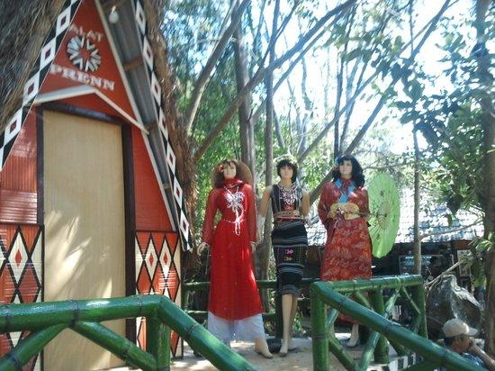 Easy Riders Vietnam: национальная одежда вьетнамок впарке в Далате Фото0219