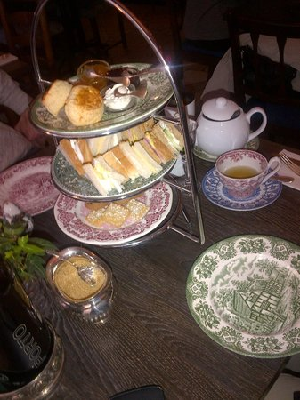 afternoon tea with scones sandwiches and cookies. Black Bedroom Furniture Sets. Home Design Ideas