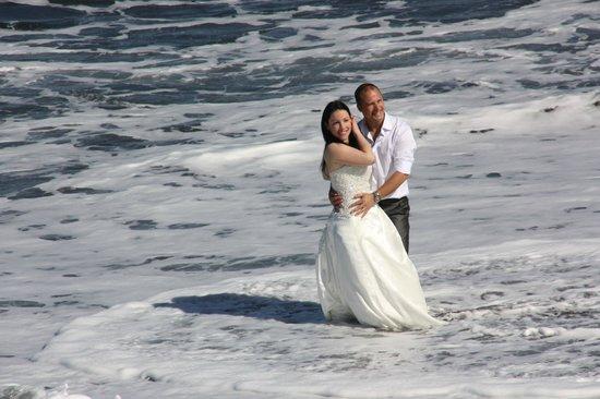 Playa Jardín: eines war dem Brautpaar gewiß, es lockte viele Schaulustige an!