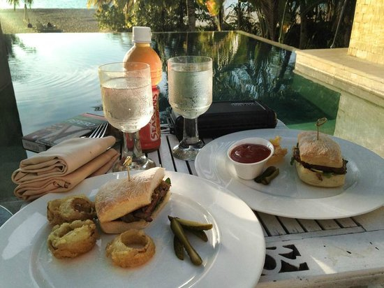 Four Seasons Resort Langkawi, Malaysia: Black Angus Steak Sandwich @ Private Cabana