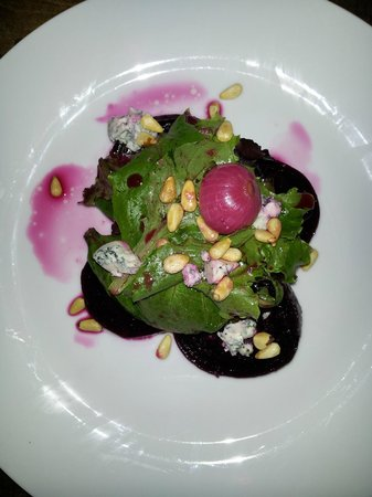A Tavola Bistro : Beet Salad with Blue cheese & Pine nuts