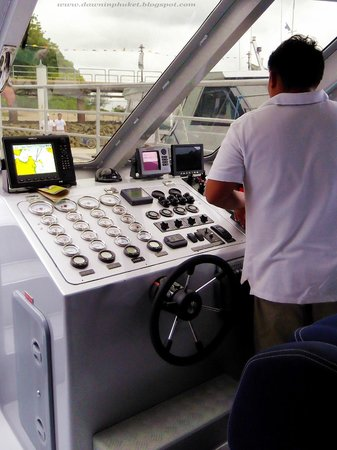No idea what all those dials are for. Blu Anda Catamaran